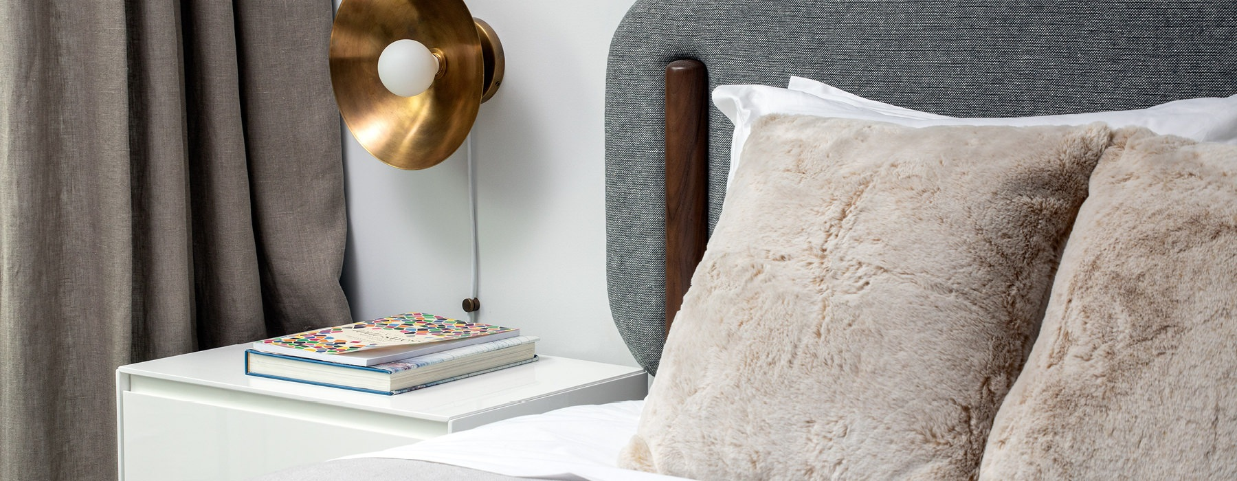 Bedroom with end table